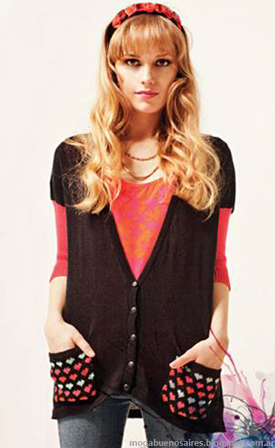 Moda 2014 Florencia Llompart sacos tejidos 2014.
