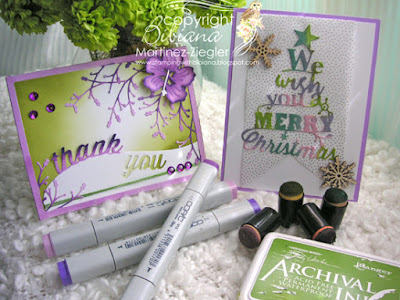 how to color die cuts 2 cards supplies