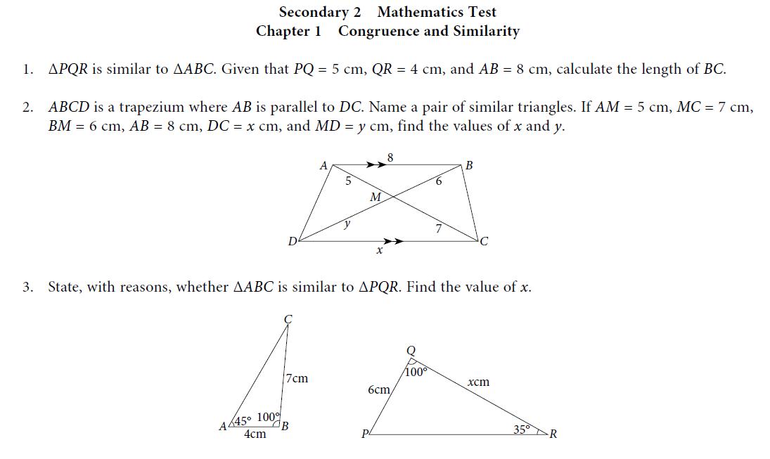 congruence and similarity worksheet pdf
