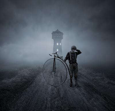 Perdido en el camino con su bicicleta - Lost Road