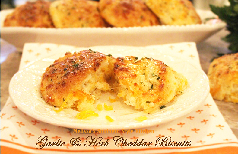 Garlic And Herb Cheddar Biscuits - melissassouthernstylekitchen.com