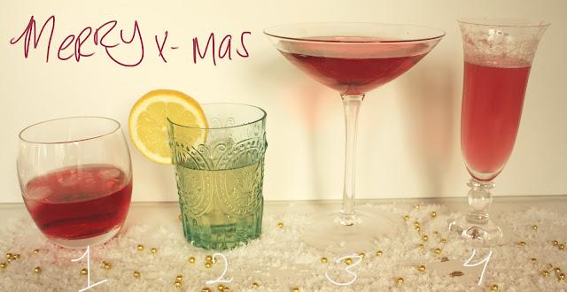 kerst, drankjes, borrel, cocktails, drank, glazen