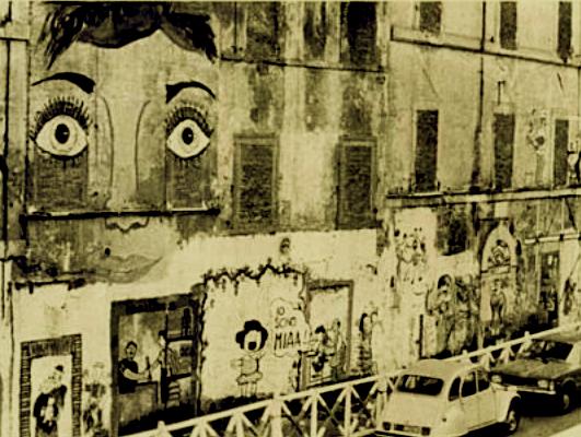 Una delle pareti del murales del 1976