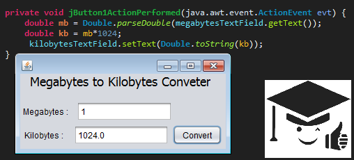Megabyte to kilobyte conversion