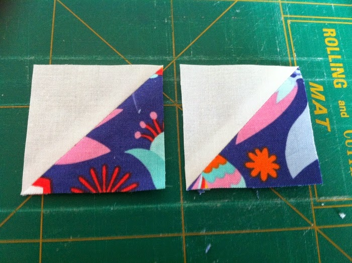 patchworkblokken perfecte driehoekjes