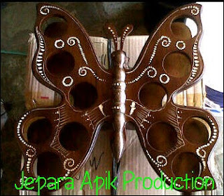 souvenir tempat aqua kupu-kupu jepara