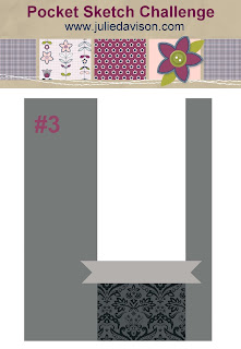 Pocket Sketch Challenge #3: Easy Card Layouts to Inspire You www.juliedavison.com -- enter for your chance to win a Free Card Layout Book!