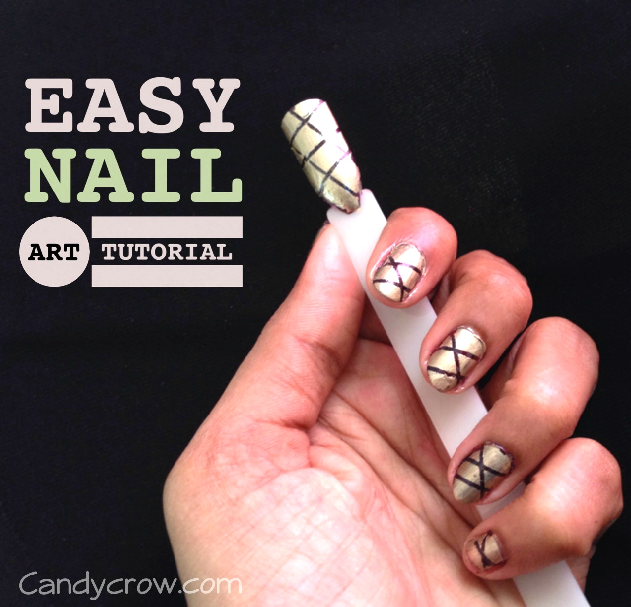 Easy nail art tutorial with stripping nail tape candy crow top easy nail art tutorial with stripping nail tape prinsesfo Image collections
