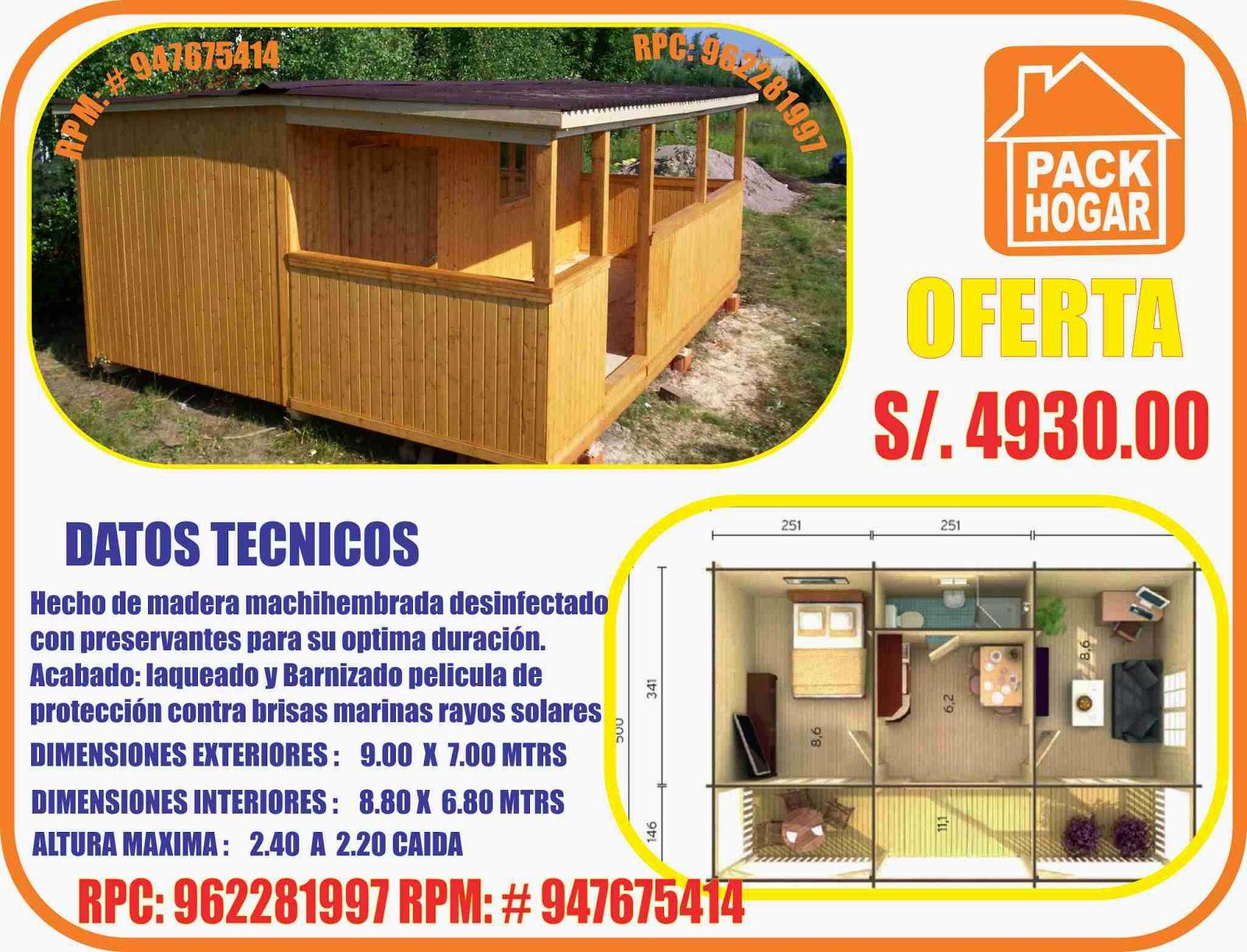Casas prefabricadas economicas en peru for Casas prefabricadas para jardin