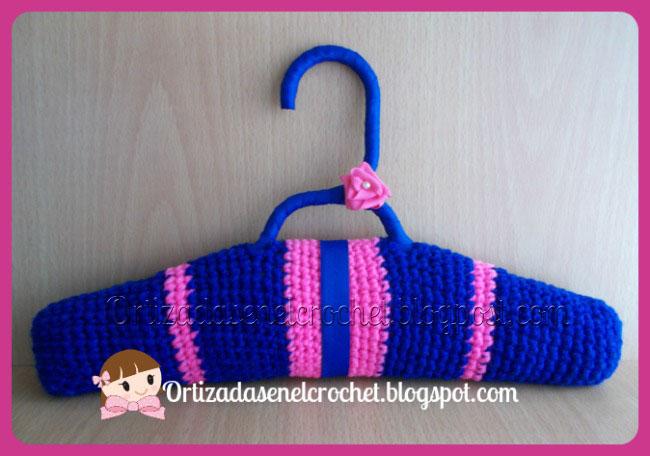 Ganchos para colgar ropa crochet ortizadas en el crochet for Ganchos metalicos para colgar ropa