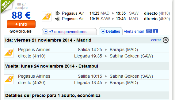 Pegasus Airlines Madrid