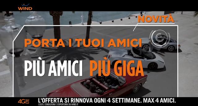 Canzone Wind porta i tuoi amici 2015, con Fiorello e Lamborghini