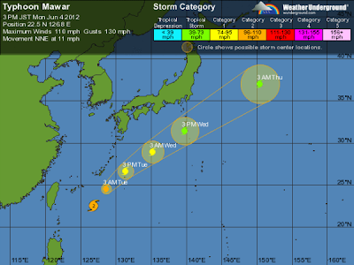 tifón Mawar 04 de Junio de 2012