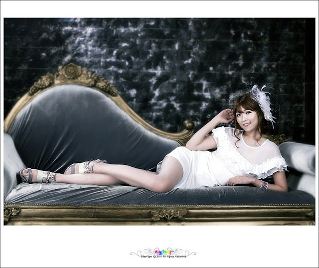 Lee Eun Hye in white dress
