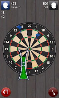 Screenshots of the Darts 3D for Android tablet, phone.
