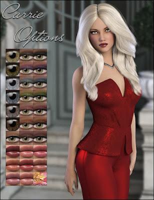 3d Models Art Zone - Carrie for Genesis 3 Female