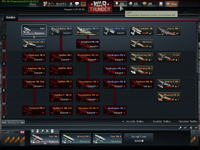War Thunder - British Tech Tree