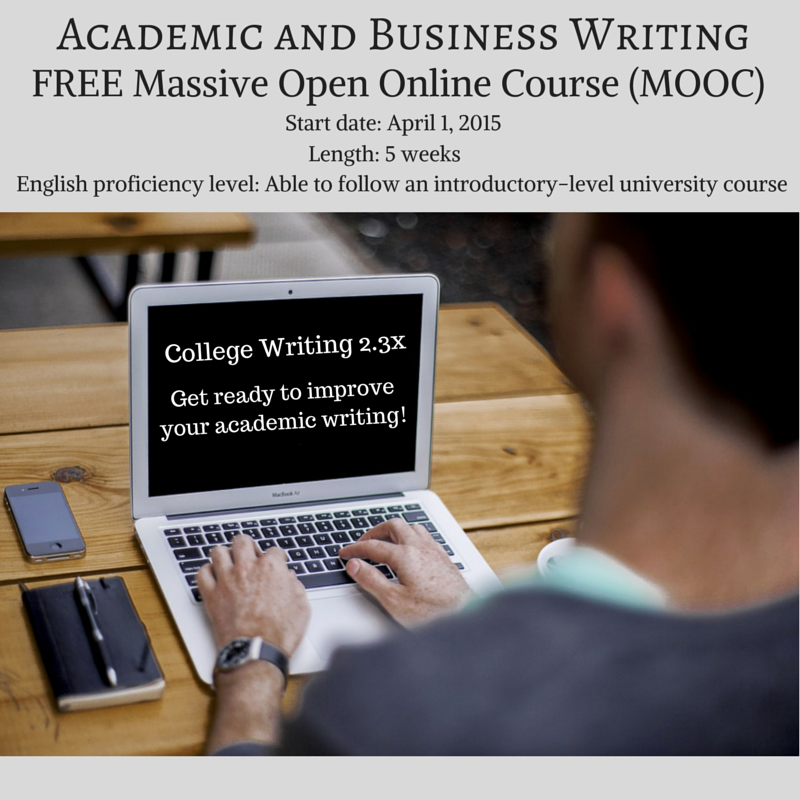 academic writing online classes This english language course will focus on academic writing, and in particular  writing papers in english attention will be paid to conventions,.