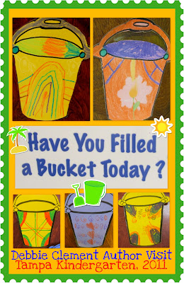 photo of: Have you Filled a Bucket today? Bucket-filling metaphor presented in children's artwork