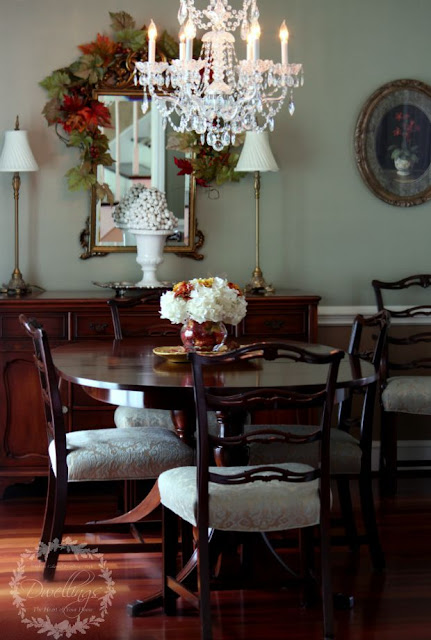 The dining room - Fall Home Tour 2015 ~ DWELLINGS - The Heart of Your Home