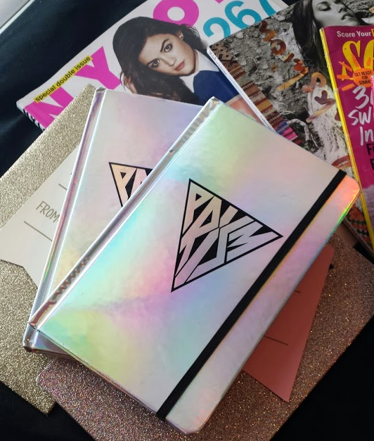 katy perry, claires, claire's, prism, concert, collection, holographic notebook, kate spade