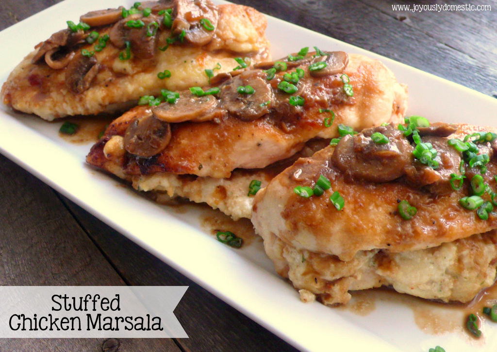 Joyously Domestic Stuffed Chicken Marsala