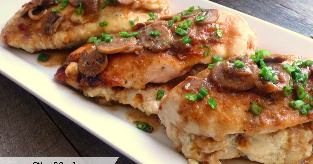 Joyously Domestic Stuffed Chicken Marsala