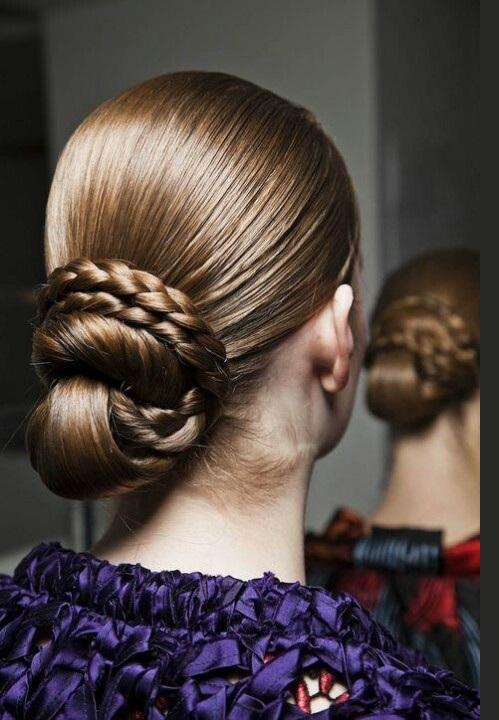 Trendy Braided Bun Fashion Hairstyles