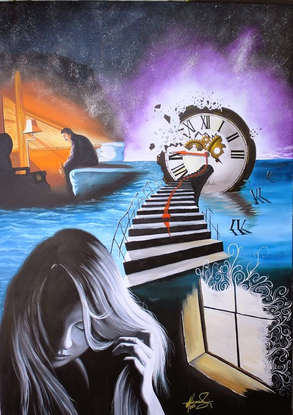 23-Wasted-Time-Raceanu-Mihai-Adrian-Surreal-Oil-Paintings-www-designstack-co