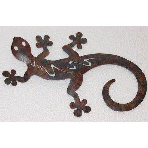 Gartendeko xxl wanddeko gekko metall wetterfest echse multicolor 50 cm - Gecko wanddeko ...
