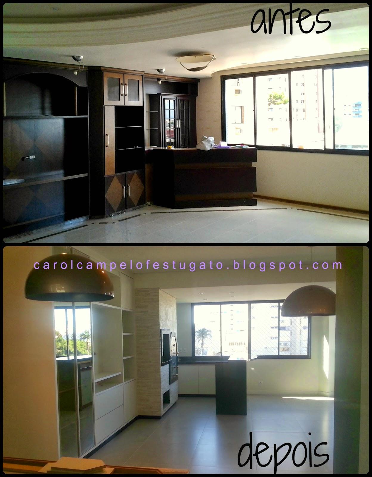 Imagens de #634E2B CarolCampeloFestugato: ANTES E DEPOIS reforma de apartamento 1248x1600 px 3688 Banheiros Reformados Fotos Antes Depois