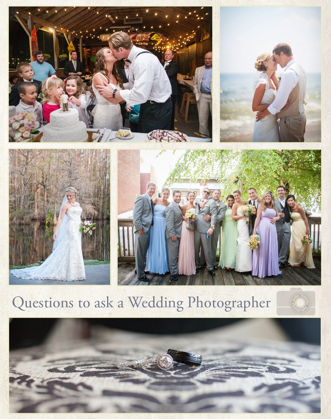 Lesley veronika photography questions to ask a wedding for Questions for wedding photographer