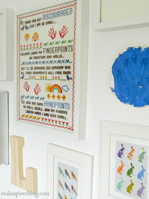 A boys' vintage modern nursery reveal! A simple makeover using a primary color palette to unify everything from toys to vintage heirlooms and sentimental objects.