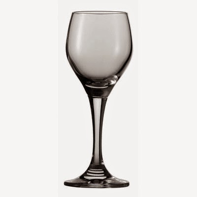 Tall cyrstal cordial glass