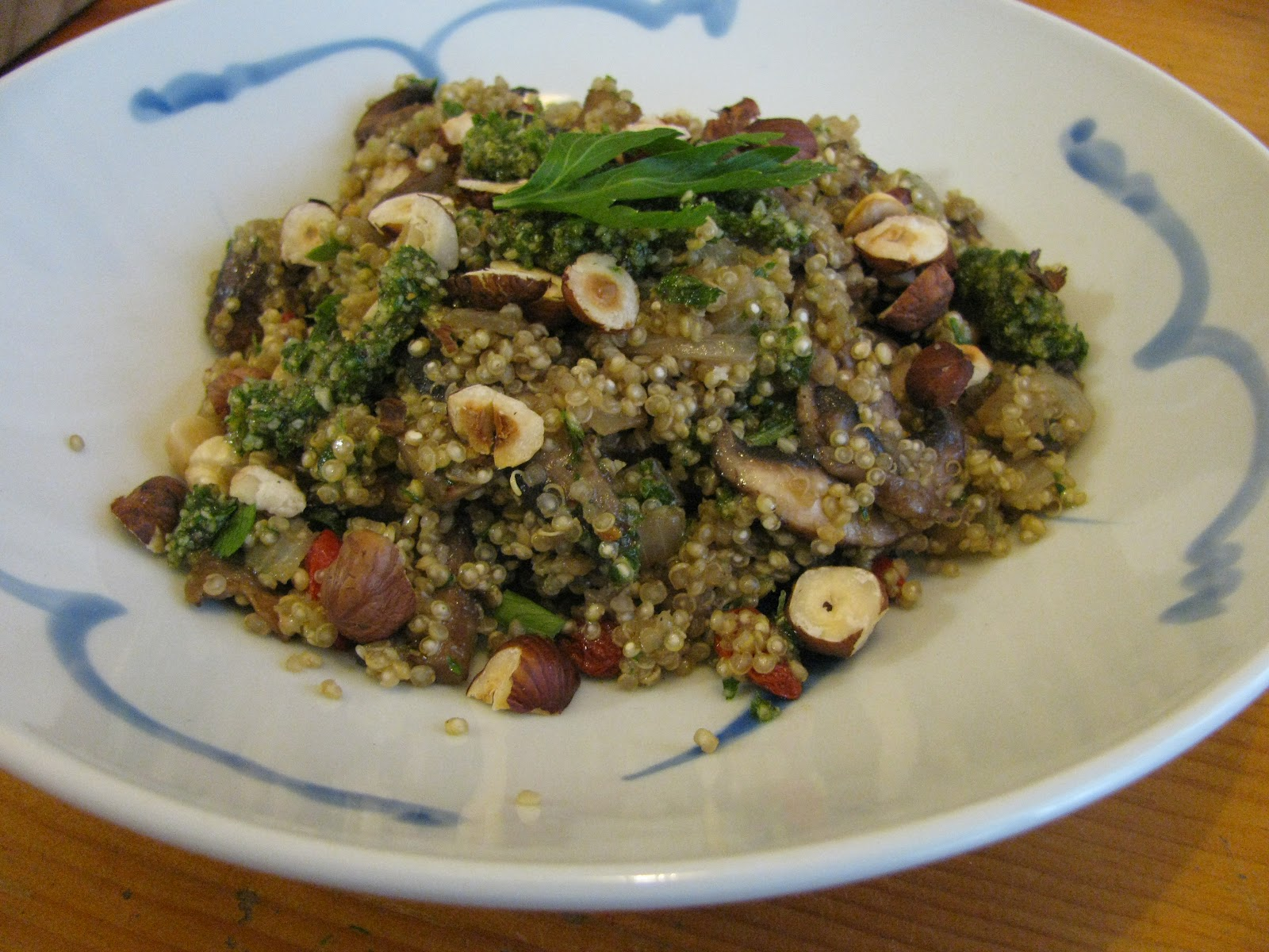 Mushroom And Asparagus Warm Quinoa Recipes — Dishmaps