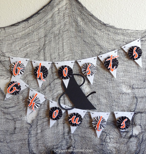 DIY Ghosts and Ghouls Halloween Banner | popperandmimi.com