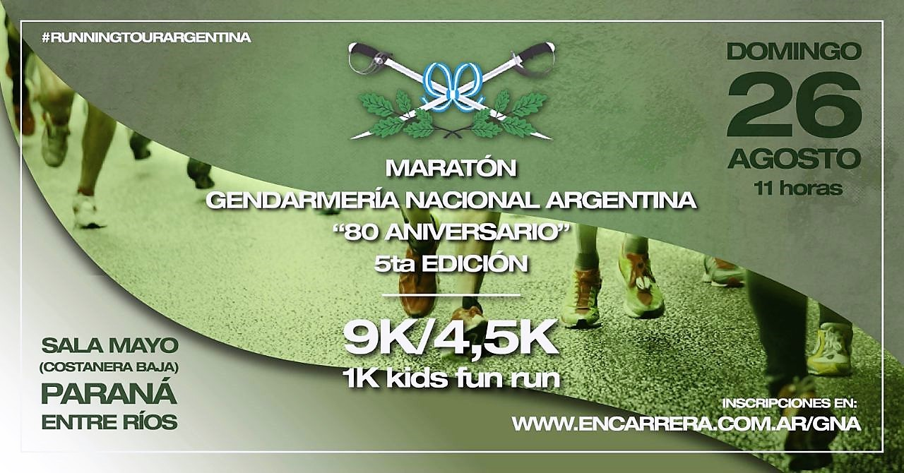 5º edicion Maraton de Gendarmeria (Parana)