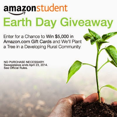 Amazon $5,000 Earth Day Giveaway