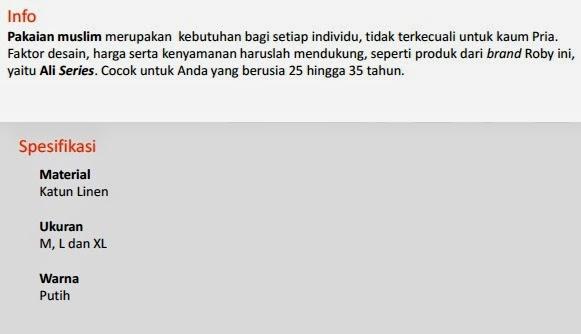 Jual Baju Muslim Roby - Ali Pekanbaru
