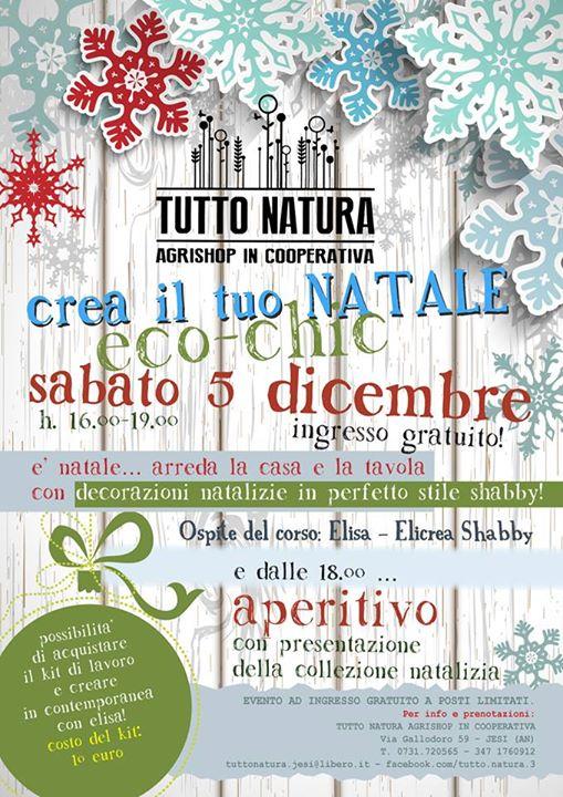 Sabato 5  e 12 Dicembre presso Tutto Natura - Jesi(AN)