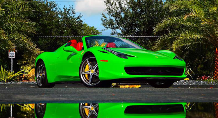 what do you think about a lime green ferrari 458 spider - Ferrari 458 Spider Green