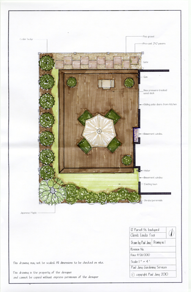 Paul Jung Gardening Services Dynascape landscape drawing Tsoi residence