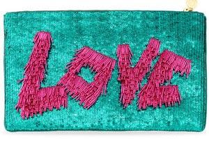 Desejo do dia - Love bag bolsa clutch de lantejoulas rosa e azul