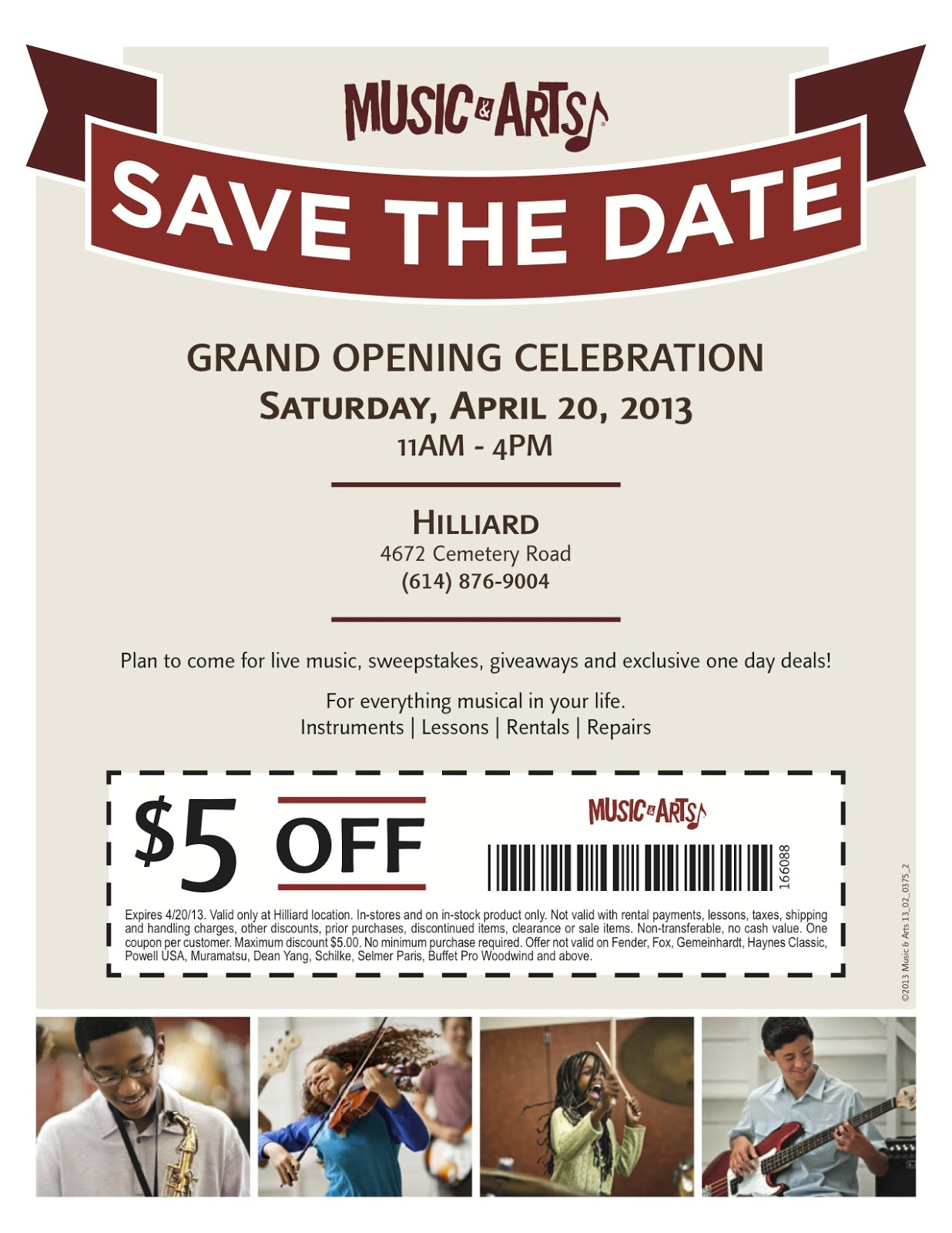 Grand Opening Flyer Template - Save the date flyer template