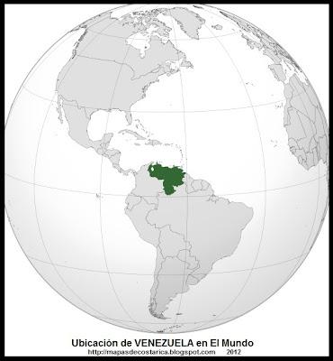 Ubicación de VENEZUELA en El Mundo, wikipedia