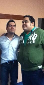 Con Omar Chaparro