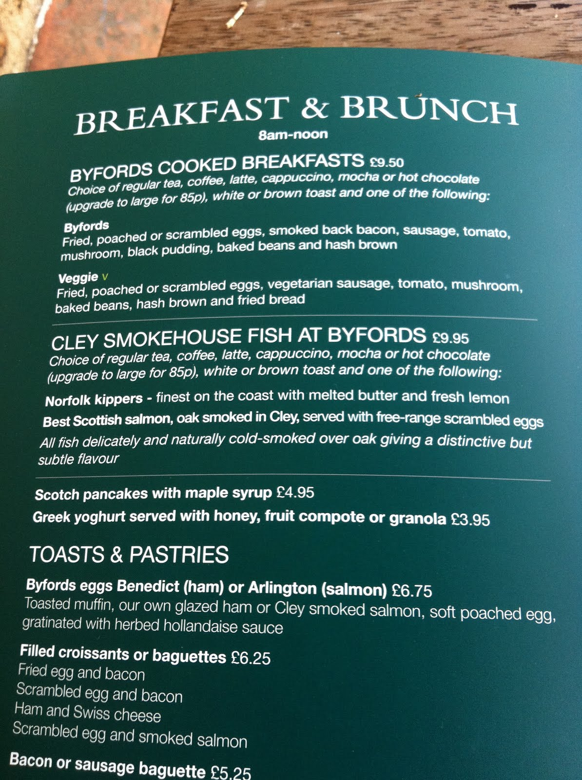 The Fry up Inspector: Byfords of Holt