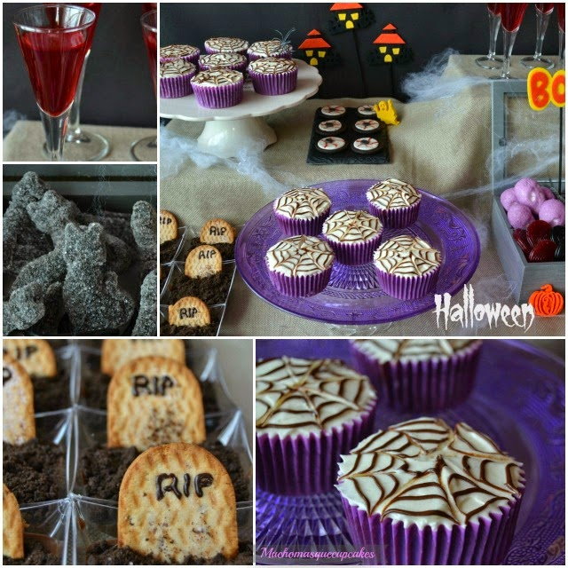 Muchomasquecupcakes Mesa dulce para Halloween