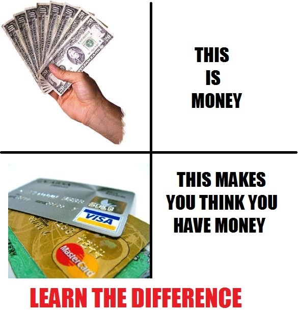 Money vs Credit Card