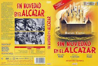 Carátula dvd: Sin novedad en el Alcázar